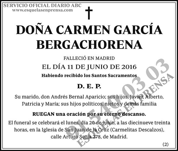 Carmen García Bergachorena